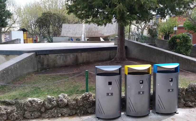 Completada la renovació de papereres a parcs infantils i entornsescolars
